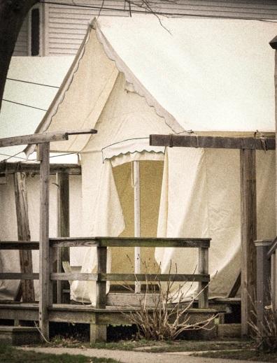 Spring tent. April 10, 2015. By Bob Bowné. ©