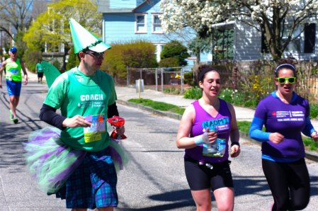 Who knew ballerinas ran marathons?  Blogfinger photo ©  March 26, 2015