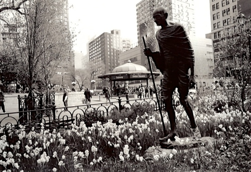 Ghandi in Union Square Park. By Paul Goldfinger © NYC Street series