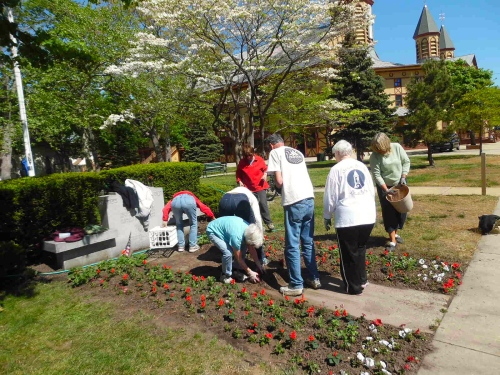 Beautification Project at work in Auditorium Park. © can Bredin photo.  May, 2015.