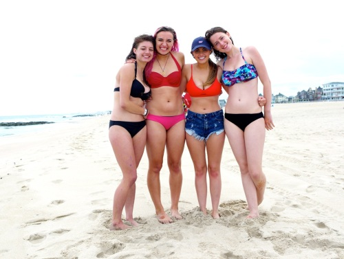 OG bathers. (Left to right) Hannah, Tui, Danielle, and Amelia. 6/6/15. Blogfinger photo ©