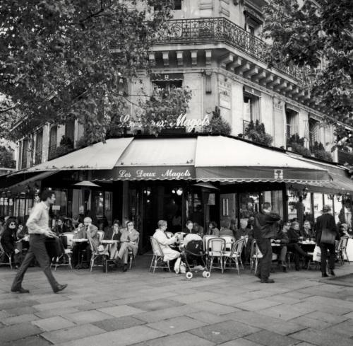 Cafe Deux Magots is in the Saint-Germain area of Paris' Left Bank. Paul Goldfinger photo ©