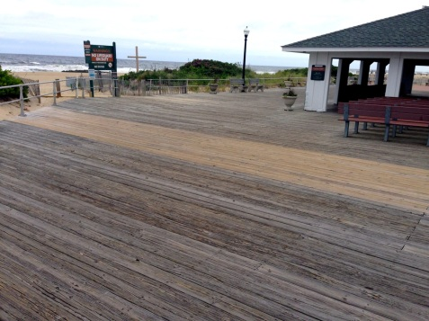 Repaired old boardwalk just south of the Pavilion.  6/4/15 Blogfinger photo