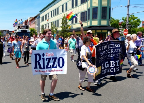 With a little help from her friends---OG's Carol Rizzo is running for Freeholder. © Blogfinger photo.