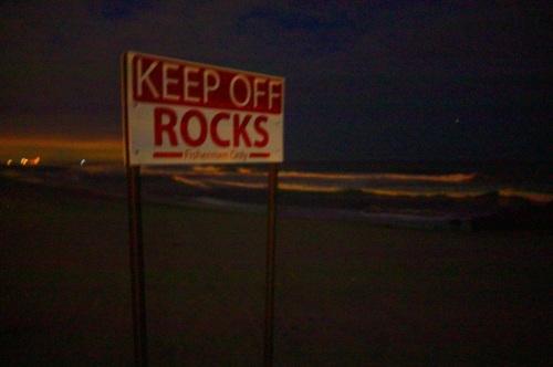 Ocean Grove beach, at night. June 28, 2015. By Paul Goldfinger ©