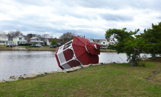 October 31. 2012.  What ever happened to this gazebo?  Paul Goldfinger photo. ©