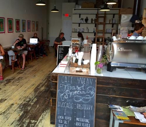 Café Volan. A.P. Paul Goldfinger photo. July 15, 2015.