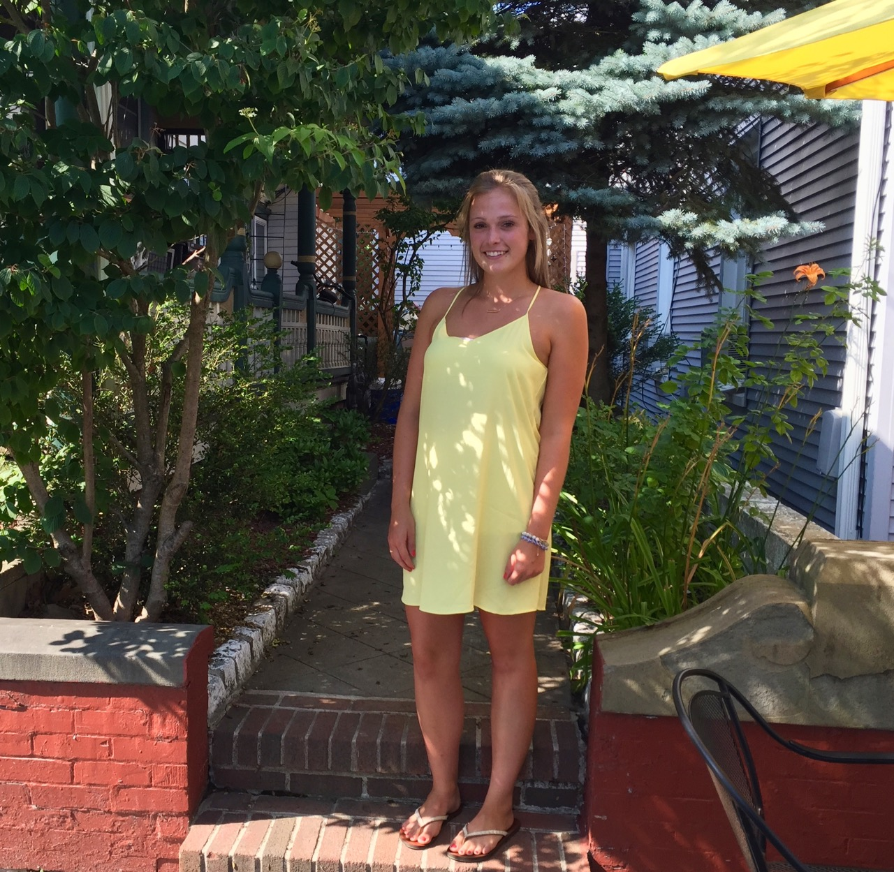 Girls in their summer clothes: Carly from Seasons in yellow on a ...