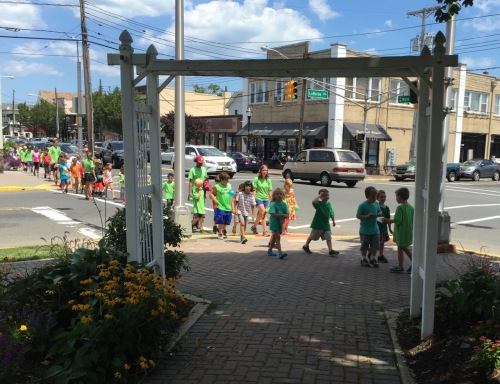 Green procession on Main Street, Bradley Beach. 7/23/15. Blogfinger.net photo ©