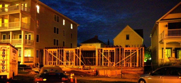 Mary's Place under construction on Main Avenue in Ocean Grove.  June, 2015 photo by Blogfinger.net ©