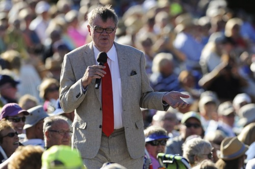 Garrison Keillor in Michigan, 7/29/156 by Alex McDougal. MLive.com ©