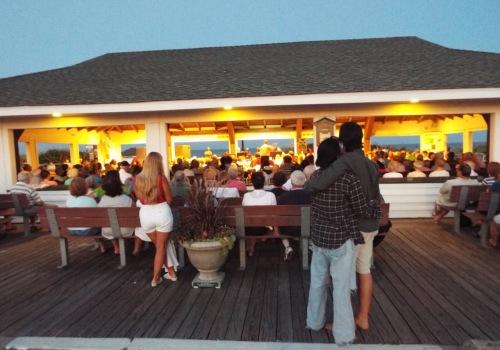Ocean Grove Summer Band in the Boardwalk Pavilion. 7/5/15. By Jean Bredin, Blogfinger.net staff. ©