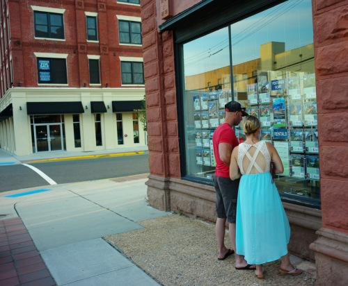 Shopping for real estate. All photos by Paul Goldfinger. August 30, 2015 © Blogfinger.net