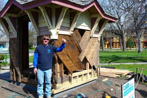 John Case, craftsman .  April, 2015. Paul Goldfinger photo.  Blogfinger.net ©