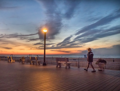 Dawn Walk in Ocean Grove. By Bob Bowné.  ©  Special to Blogfinger.