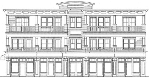 Proposed 3-story commercial building in the National Historic District of Ocean Grove. 50-54 Main Avenue.