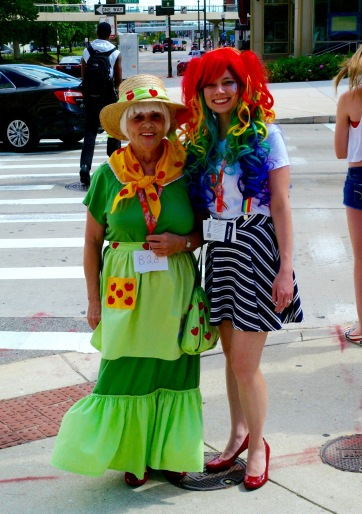 Bronies heading towards the Baltimore Convention Hall.  Paul Goldfinger photo  8/8/15 ©