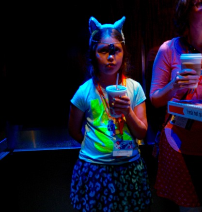 Brony 10 year old in our elevator. Her mom was there to make sure that the ponies don't make her daughter nuts.  Paul Goldfinger photo © 8/8/15