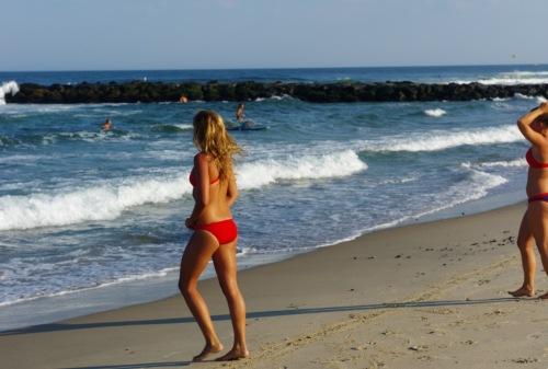 Ocean Grove beach. July 2013. Blogfinger swimsuit edition.