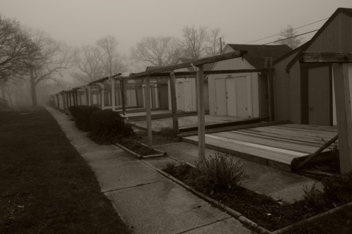 Quiet tents. Winter in Ocean Grove. Paul Goldfinger photo ©
