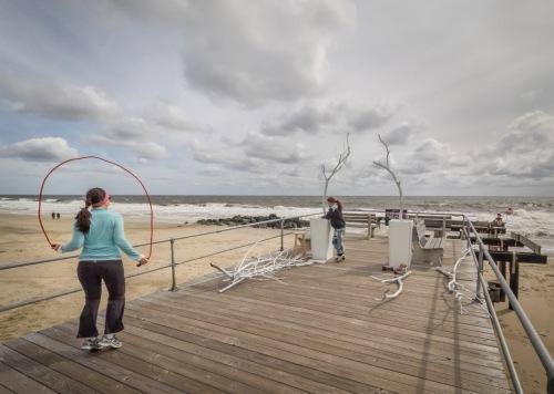 Ocean Grove non-fishing pier. September 26, 2015. By Bob Bowné. ©