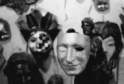 Mask shop in Florence. Masquerade balls are big in Venice----since the 15th century. Paul Goldfinger photo ©