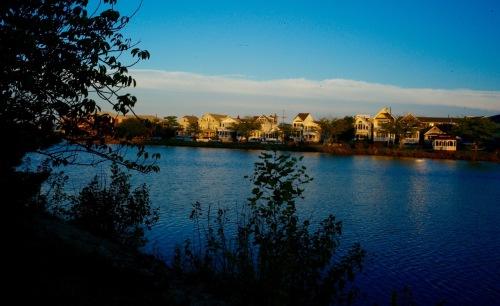 Fletcher Lake looking across  from OG at Bradley Beach. Paul Goldfinger. ©
