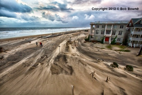 Sandy Ocean Grove. by Bob Bowné. October 30, 2012 ©