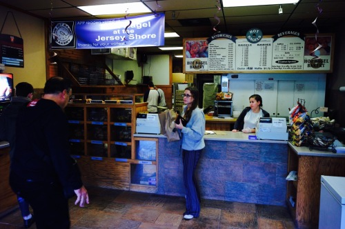 They line up for the bagels in Oakhurst. Their toasted onion bagels are also delicious. Blogfinger photos ©