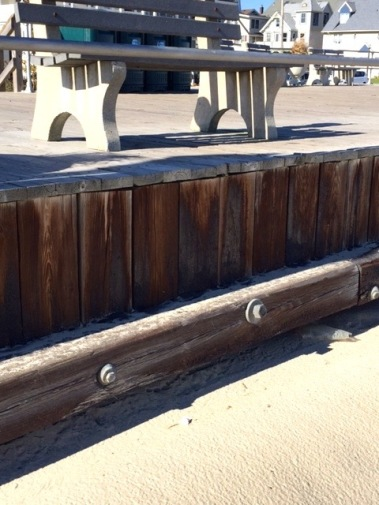 Closeup of South end  bulkhead.  Oct. 30, 2015 by Bill Bailey.