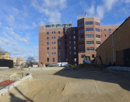 AP is capable of providing ample parking for a hotel. This is the rear of the Asbury Hotel. 11/26/15. Blogfinger photo. ©