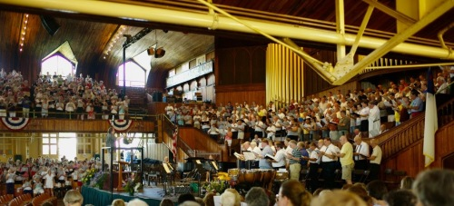 Choir Festival rehearsal. July 12, 2010. Paul Goldfinger photo ©. Click to enlarge.