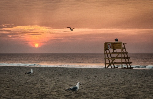 Serenity. Sunrise in Ocean Grove. By Bob Bowné