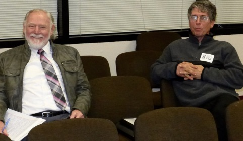Jack Bredin (left) and Kevin Chambers in Trenton, waiting for the meeting to begin. DEc. 17, 2015. Blogfinger.net photo breaking news ©