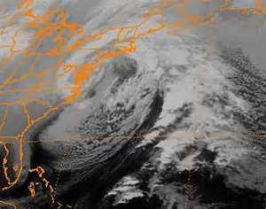 1992 nor'easter along the east coast. National Weather Service depiction.