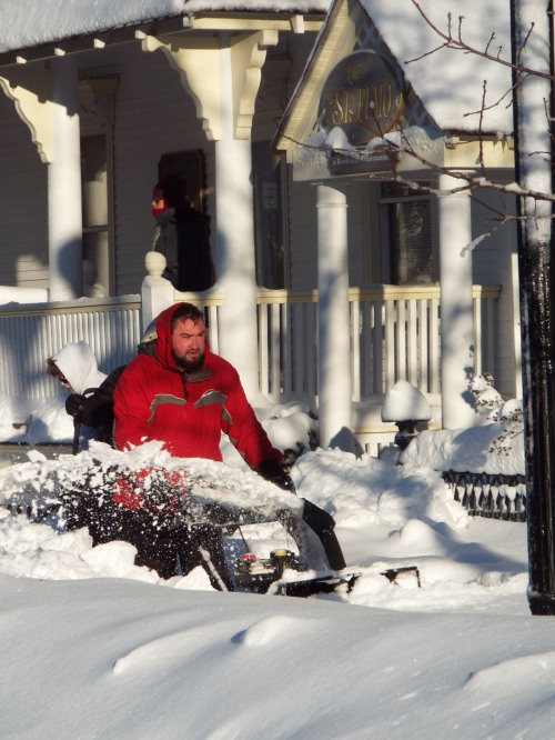 Snow blower---so who's the blower--man or machine?  By Jean Bredin. Jan 24 2016