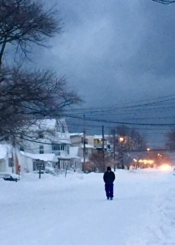 Heading home. By Moe Demby, Blogfinger staff ©. Ocean Grove, NJ Jan. 23, 2016.
