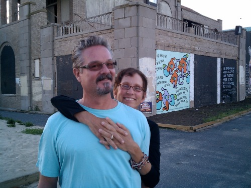 Kathy and Mark of Ocean Grove at the North End. Paul Goldfinger photo