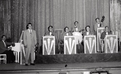 Maurice Scott and his society band. Metropolitan Hotel c. 1950's. Blogfinger file photo courtesy of the Scott family. ©
