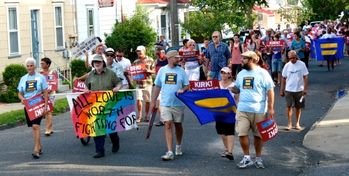 2012  Ocean Grove United marches in town for what they believe in.  Blogfinger photo. 2012.
