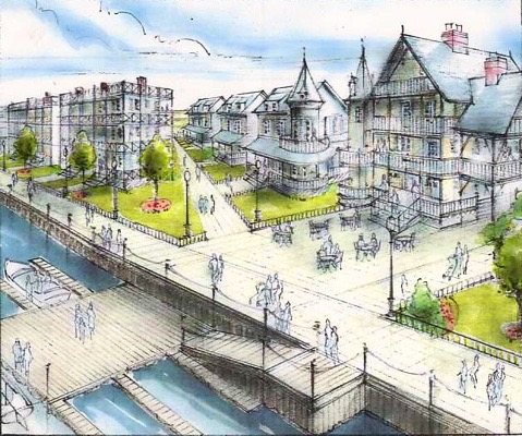 This is an actual design for the North End submitted in 2007. We can't show you a picture of the NERP, the current plan, because no actual design has ever been submitted.