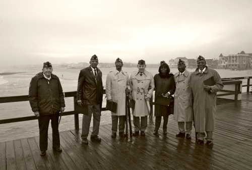 Friends. Pearl Harbor Day. December 11, 2011. Ocean Grove Fishing Pier. Paul Goldfinger photo ©
