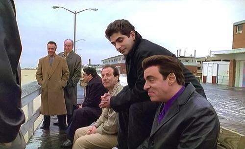 Sopranos (L to R) Paulie, Hesh, Blank, Christafuh, Sylvio (Steve Van Zant)