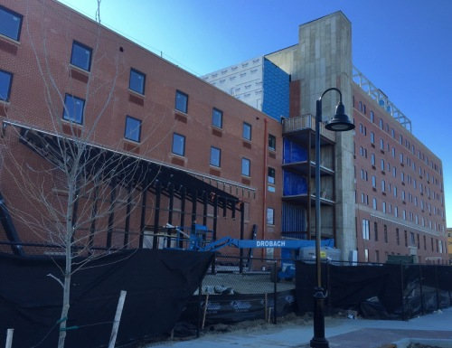 The Asbury, 5 blocks from Wesley Lake at Kingsley and 5th Avenue, is almost completed. Paul Goldfinger photos Feb 14, 2016.