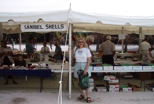 Eileen at the annual Sanibel sea shell festival.