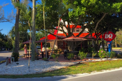 Sanibel Dairy Queen--The first fast food chain eatery allowed on Sanibel Island, Fla. Paul Goldfinger photos © 2016.