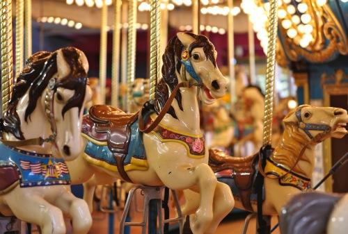 Carousel on the boardwalk. Paul Goldfinger photograph. 2014 ©