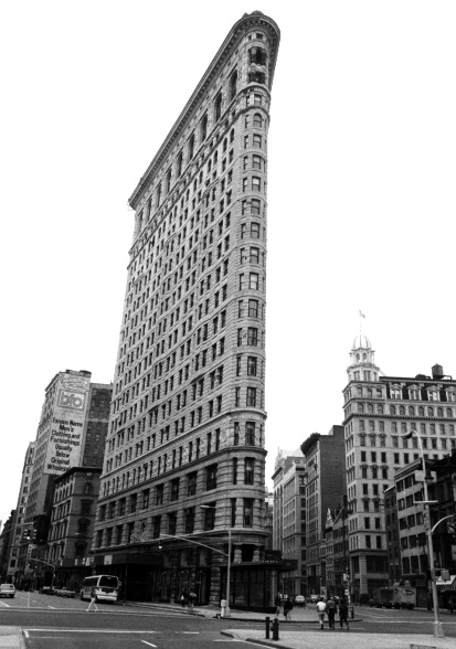 175 Fifth Avenue. Like Ocean Grove, this triangular skyscraper is on the National Register of Historic Places. Photo by Paul Goldfinger © Digital print from film negative.