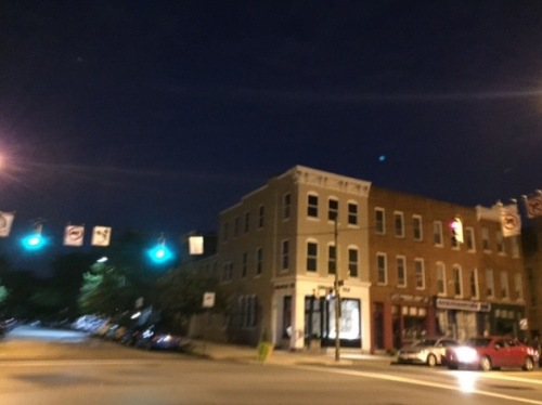 Nocturnal Baltimore near the Inner Harbor. August 2015. By Paul Goldfinger ©