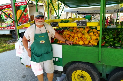 """Tank"" is one of four farmers who work together at Farmer Mike's in Bonita Springs, Fla   Paul Goldfinger photo ©  4/1/16"